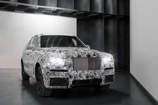Rolls Royce показав перші фотографії позашляховика Cullinan