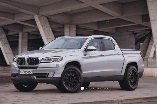 Як може виглядати люксовий пікап BMW: Фото