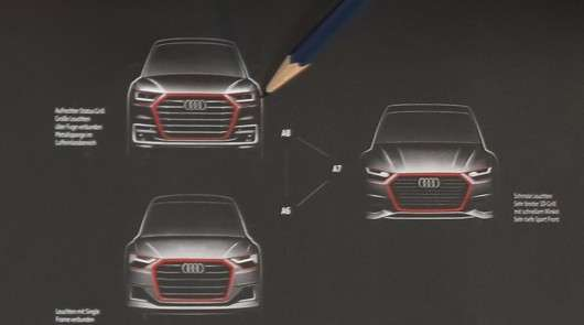 Перші офіційні ескізи дизайну 2018 Audi A6, A7 і A8 зявилися в мережі інтернет
