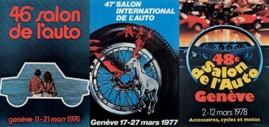 Підбірка всіх постерів з Женевського автосалону з 1924 року