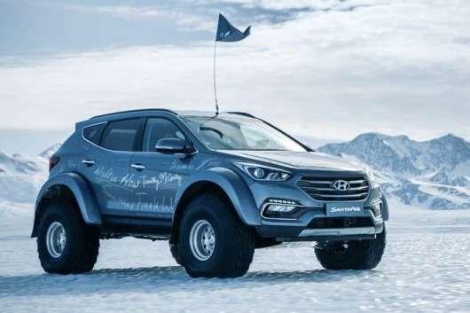 Майже серійний Hyundai Santa Fe перетнув Антарктику